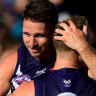 Fremantle suspend Jesse Hogan after 'poor alcohol choices' and 'incident' at pub