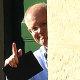Australian Prime Minister Scott Morrison gestures to media at Kirribilli House in Sydney on Sunday.,