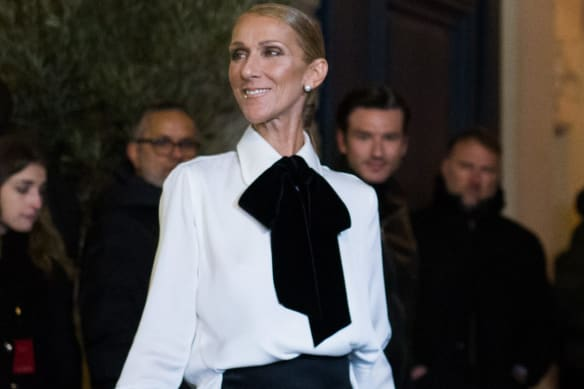 Canadian singer, Celine Dion, arrives for the Armani show as part of Paris Haute Couture Fashion Week Spring/Summer 2019-2020