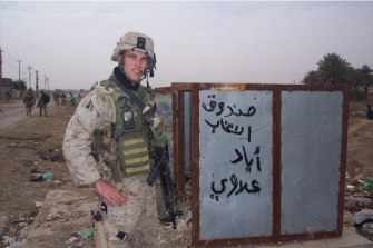 US Marines war hero and special forces' veteran Elliot Ackerman.