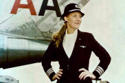 "Supplied PR image for Traveller. US airline pilot Beverley Bass was hired by American Airlines in 1976 as their third female pilot. She was piloting a plane that was one of dozens diverted to Newfoundland after the September 11 attacks and the closure of US airspace. Her story is included in the musical ""Come From Away"", which has its Australian premiere in Melbourne in July 2019."