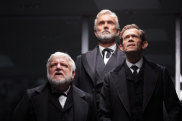 The superb British actors Simon Russell Beale, Ben Miles and Adam Godley embody generations of Lehman workers.