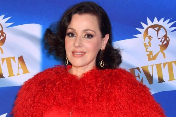 Tina Arena, who plays star Eva Peron, at the opening night of Evita at the Sydney Opera House on Tuesday, September 18, 2018.