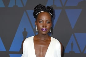 Lupita Nyong'o arrives at the Governors Awards.