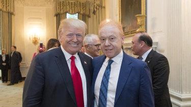 Anthony Pratt, Australia's richest man, at Donald Trump's Mar-a-Lago resort in Florida last year.