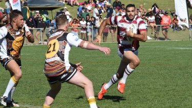 Grassroots: Greg Inglis in action at the Koori Knockout ahead of being named Kangaroos captain.