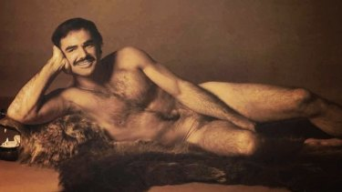 Burt Reynolds in the April, 1972 centrefold of Cosmopolitan magazine.
