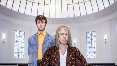Daniel Radcliffe and Steve Buscemi  in <i>Miracle Workers</I>.