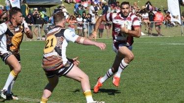 Greg Inglis in action at the Koori Knockout ahead of being named Kangaroos captain.