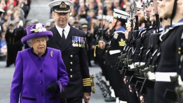 The Queen attends the commissioning ceremony for HMS Queen Elizabeth.