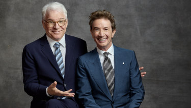 """""""Always say what's on the audience's mind immediately"""": Steve Martin and Martin Short."""