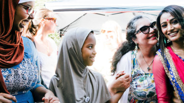 Celebrating cultural diversity week in St Kilda earlier this year.