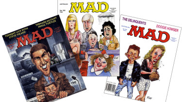 Covers from the Australian edition of MAD magazine, created by Andrew Fyfe.