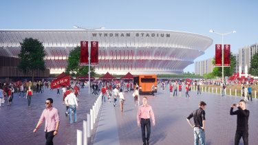 An artist's impression of Wyndham Stadium, where Western Melbourne will play.