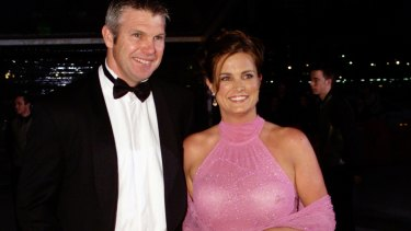 Frawley with wife Anita at a Brownlow Medal count.
