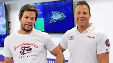 Wahlberg with F45 owner Rob Deutsch.