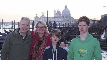 David Goodrick, Kim Goodrick, Ross (13) and Connor (15).