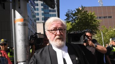 Robert Richter QC leaves County Court. 27 February 2019. The Age News. Photo: Eddie Jim.