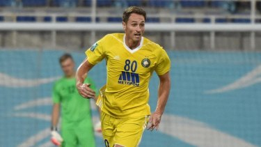 Culture shock: Rostyn Griffiths playing for Pakhtakor Tashkent in Uzbekistan.