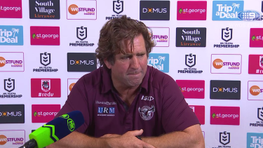 Explanation requested: Sea Eagles coach Des Hasler was not happy.