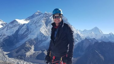 Michael Davis died after a falling rock severed his climbing ropes in eastern Nepal.