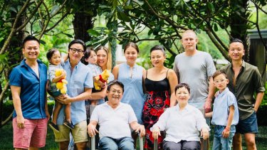 Pauline (back row, third from right) with the extended Nguyen family in mid-2018.