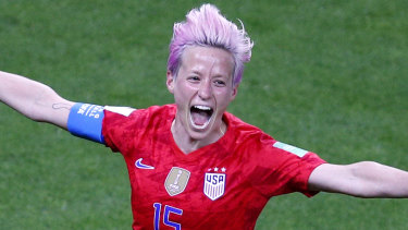United States' Megan Rapinoe carried her team to a narrow victory.