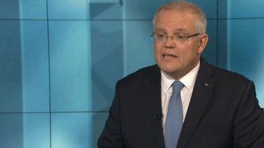 Prime Minister Scott Morrison on 7.30.