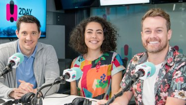2Day FM breakfast's Ed Kavalee, Ash London and Grant Denyer.