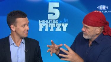 FitzSimons writes at least three columns a week, and appears on Nine's Sports Sunday.