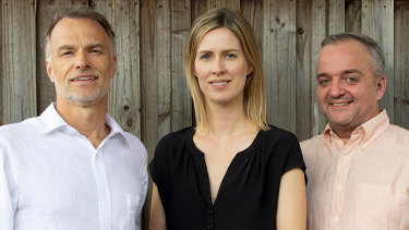 From left to right: Tim Nicholas, Silje Dreyer and David Wareing, co-founders of GetReminded.