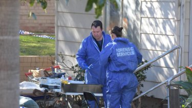 Forensic services investigated the man's apartment for days this week.