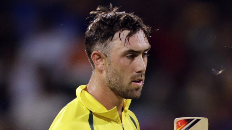 Chance goes begging: Glenn Maxwell was overlooked for Australia's Test series against Pakistan in the UAE.