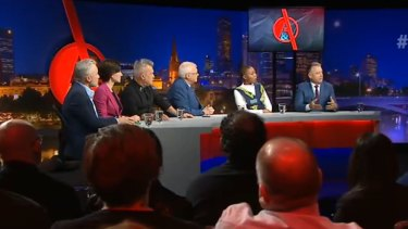The Q&A panel including : Jimmy Barnes, Sisonke Msimang, Nicolle Flint,  Joel Fitzgibbon, and Matthew Warren.