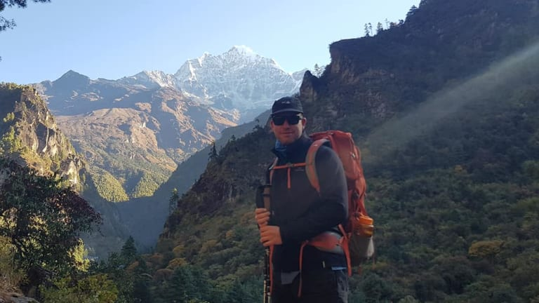 Michael Davis' final post included photos taken across the first two days of his trek along the Everest base camp trail.