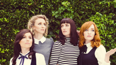 All our Exes Live in Texas: (left to right) Elana Stone, Katie Wighton, Hannah Crofts and Georgia Mooney.