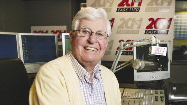 Bob Rogers, determined to get back on air following his stroke five weeks ago.
