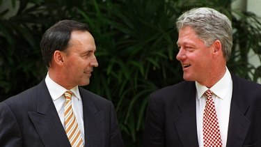 Paul Keating and Bill Clinton in Jakarta, 1994.
