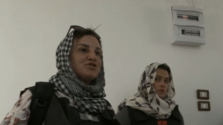Jacqui Lambie (left) in ISIS attack in Go Back To Where You Came From Live.