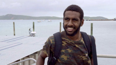 Jimi Bani directs his son Dmitri Ahwang-Bani (pictured) in Yatha Pathay on ABC iview.