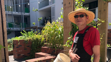 Edward Collins, pictured at Bottleyard Apartments in Northbridge where he manages the private gardens, has been a GWR employee since he participated in Work For The Dole in 2015. He was previously long-term unemployed.