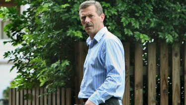 Vito Zepinic pictured outside his Turramurra home in 2008 before he left for London.