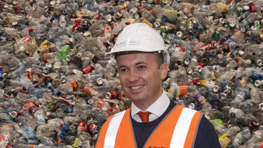 Energy and Environment Minister Matt Kean has his sights set on tackling NSW's plastic waste problems.
