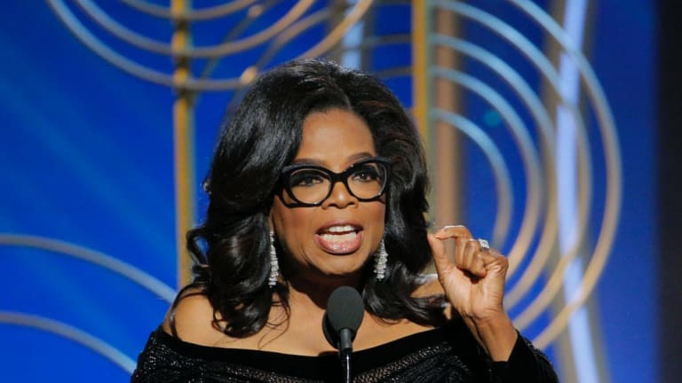 Oprah Winfrey at the 2018 Golden Globes.