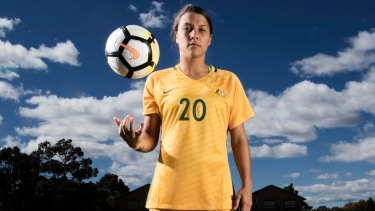 Football superstar: Sam Kerr.