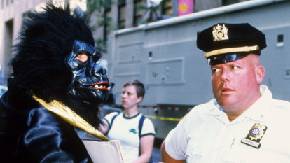 Encounter with a Guerrilla Girl, a masked crusader in the art world