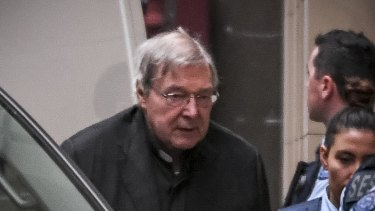 Pell appears at the Supreme Court for his appeal.