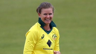 Jess Jonassen took two wickets and was also at the crease at the death during Australia's second Women's Ashes win.