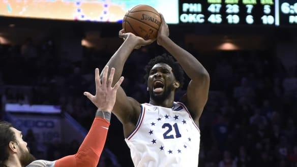 Thunder edge Sixers in NBA showdown