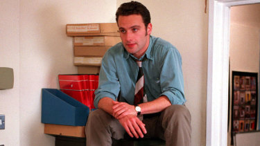Andrew Lincoln playing manchild Simon Casey in Teachers.